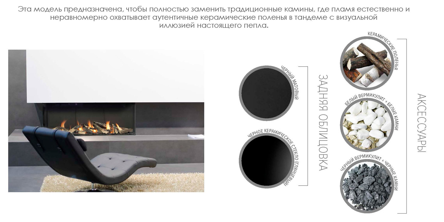Газовый камин для помещений Planika Valentino