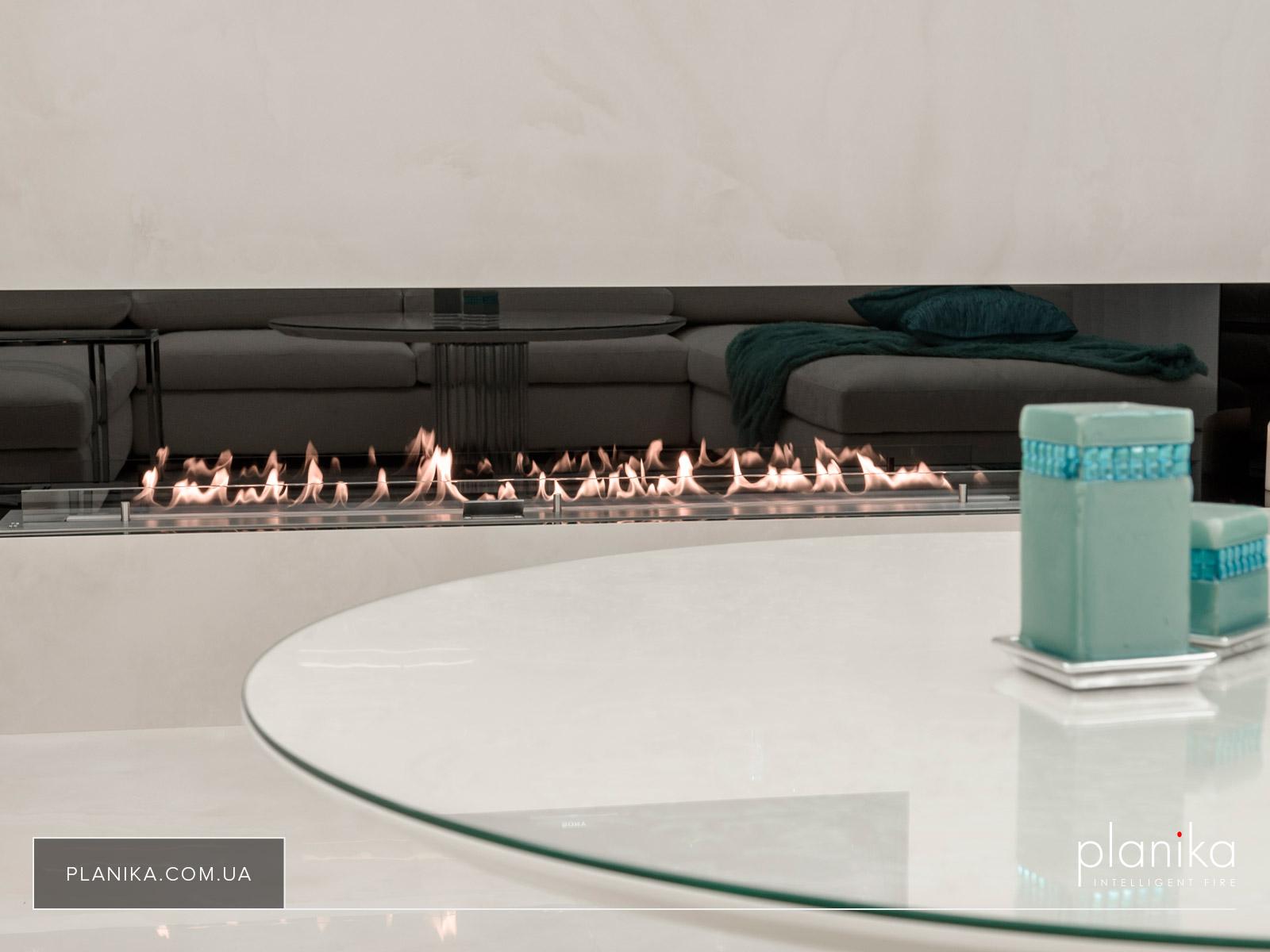 Автоматический биокамин Planika FLA 3 в индивидуальном размере 1800 мм цвет - нержавеющая сталь