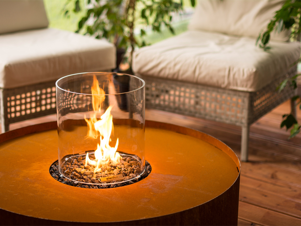 Galio Fire Pit Corten, Private Residence