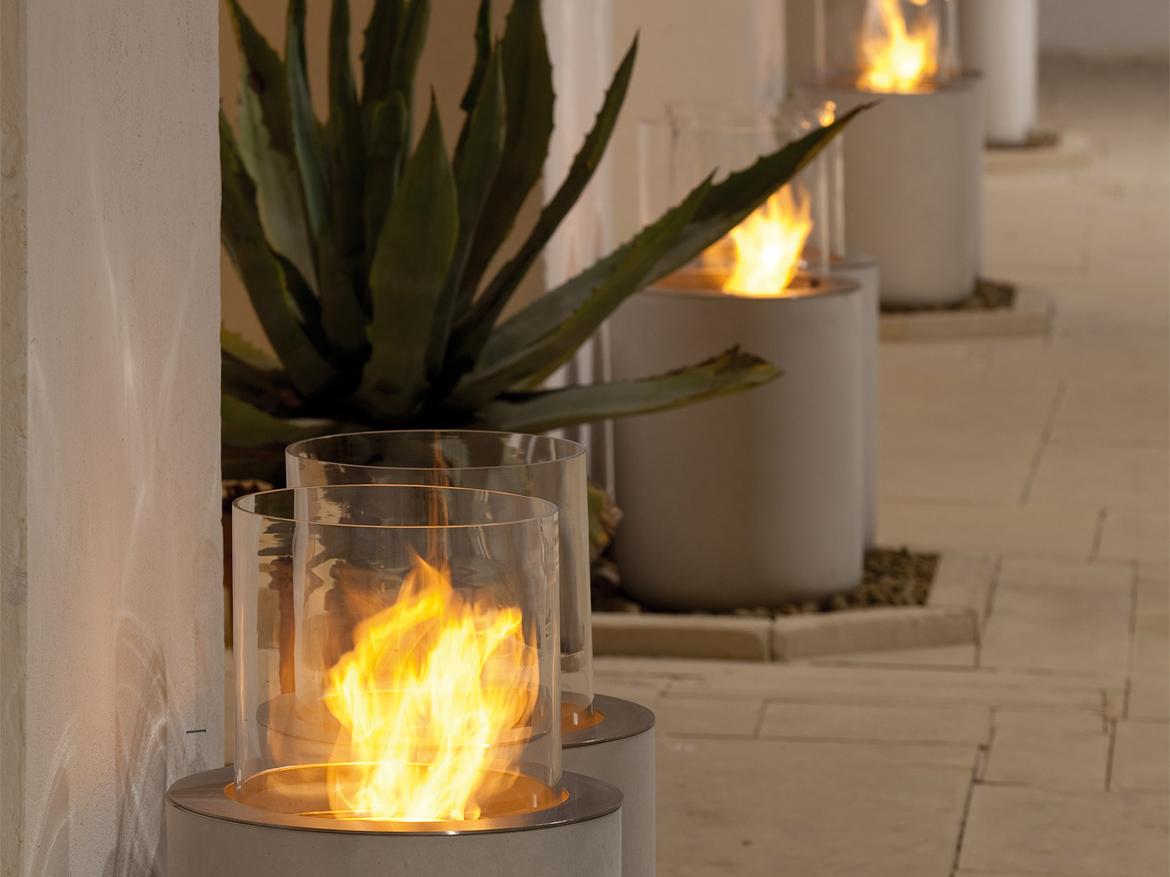 Jar, outdoor ethanol fireplace, Commercial space