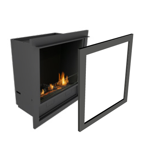 Planika L-Fire in casing with frame