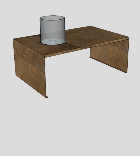 Corten Fire Table