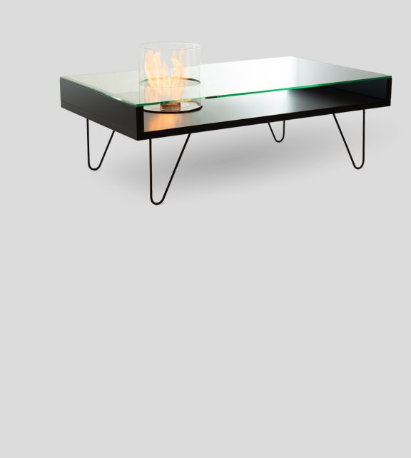 Fire Coffee Table Black MDF