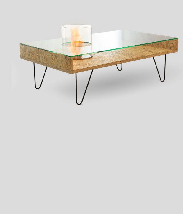 Биокамин Planika Fire Coffee Table Natural OSB (outdoor)