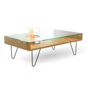 Биокамин Planika Fire Cofee Table Natural OSB (outdoor)