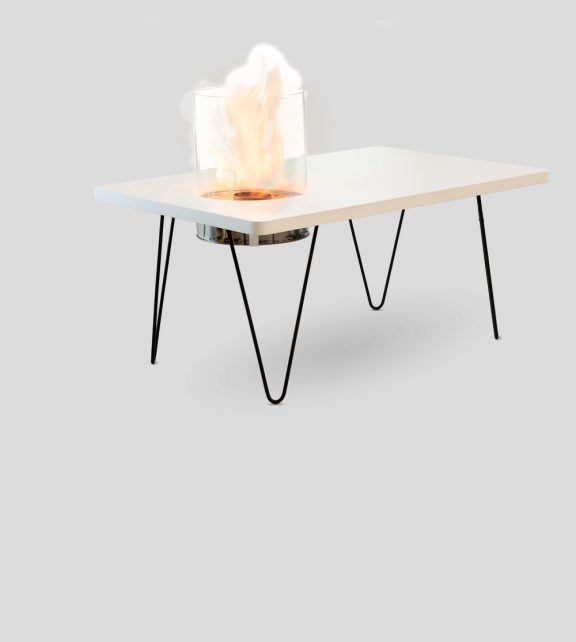 Fire Table Mini White MDF