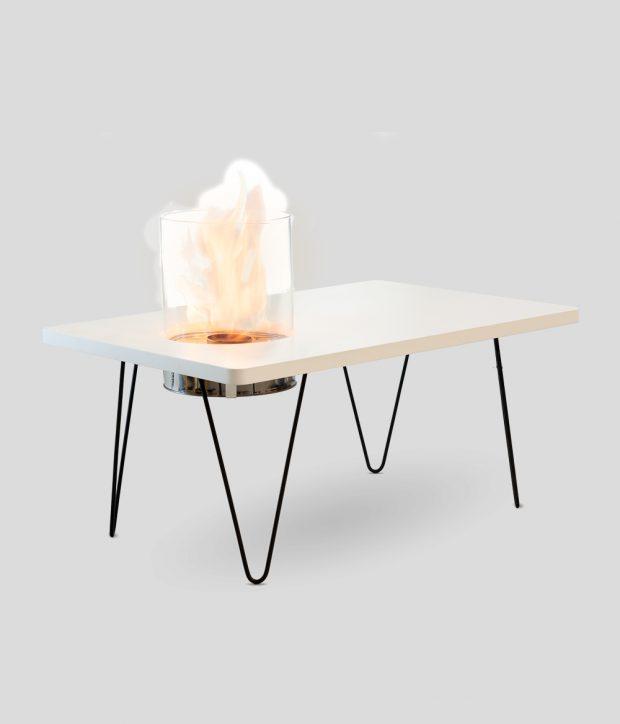Fire Table Mini White MDF