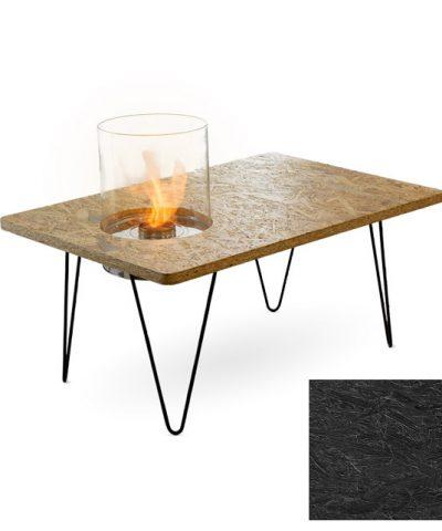 Биокамин Planika Fire Table Mini Black OSB (outdoor / indoor)