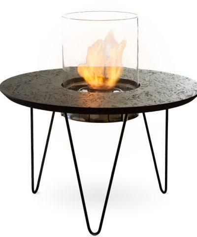 Биокамин Planika Fire Table Round Black OSB