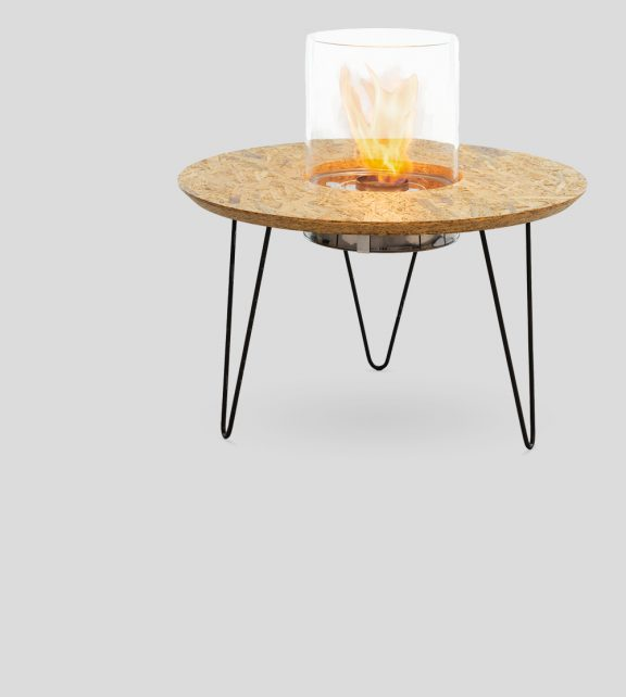 Fire Table Round Natural OSB