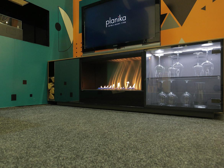 купить биокамин Planika TV BOX с пультом дистанционного управления