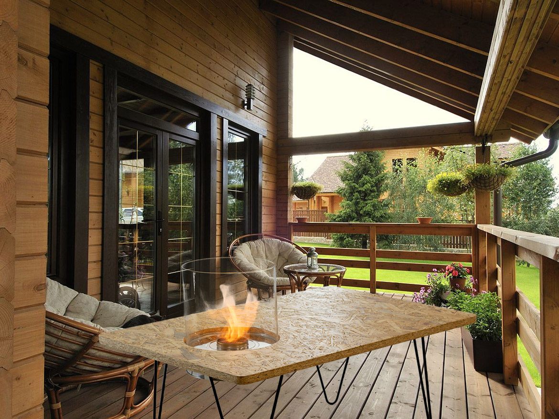 биокамин Planika Fire Table Mini Natural OSB (outdoor / indoor)
