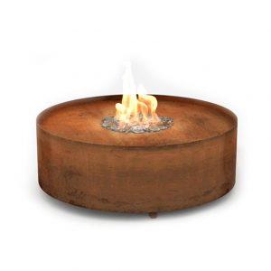 газовые камины Planika Galio Fire Pit Corten Automatic (автоматические)