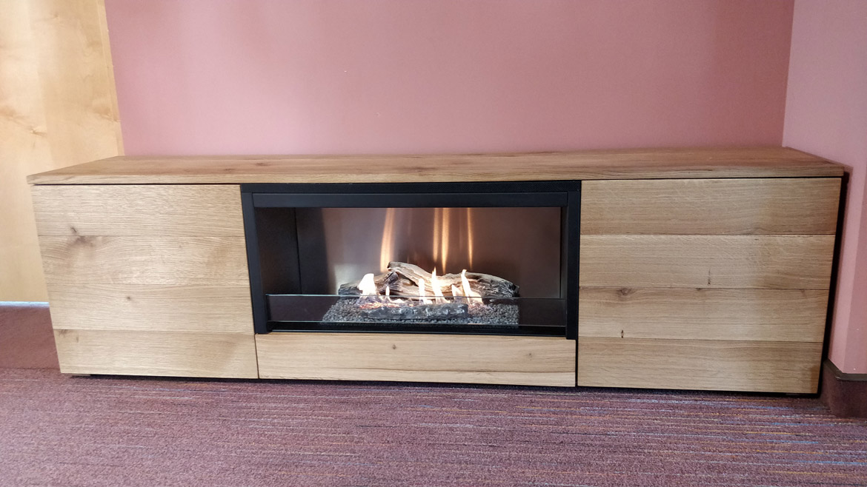Planika Pure Flame natural oak veneer