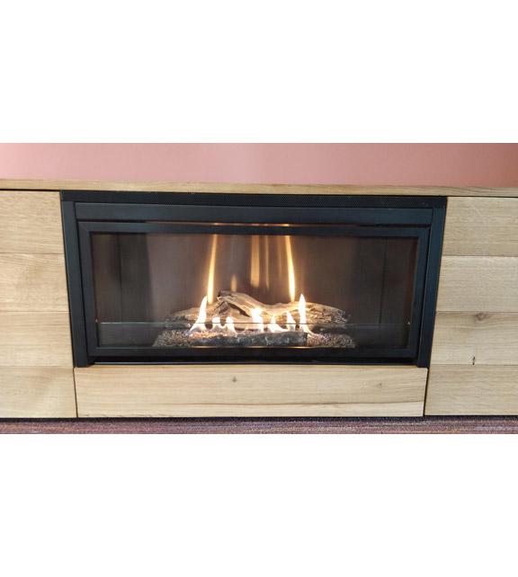 Биокамин в мебели Planika Pure Flame natural oak veneer