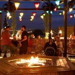 газовый камин Planika Galio Fire Pit Insert в rooftop баре отеля