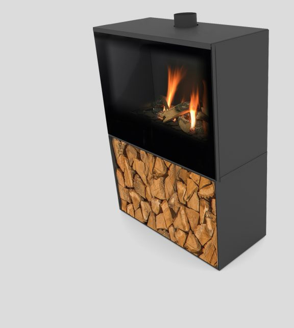 Versal Freestanding with woodbox 750