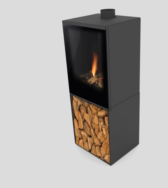 Versal Freestanding with woodbox 400