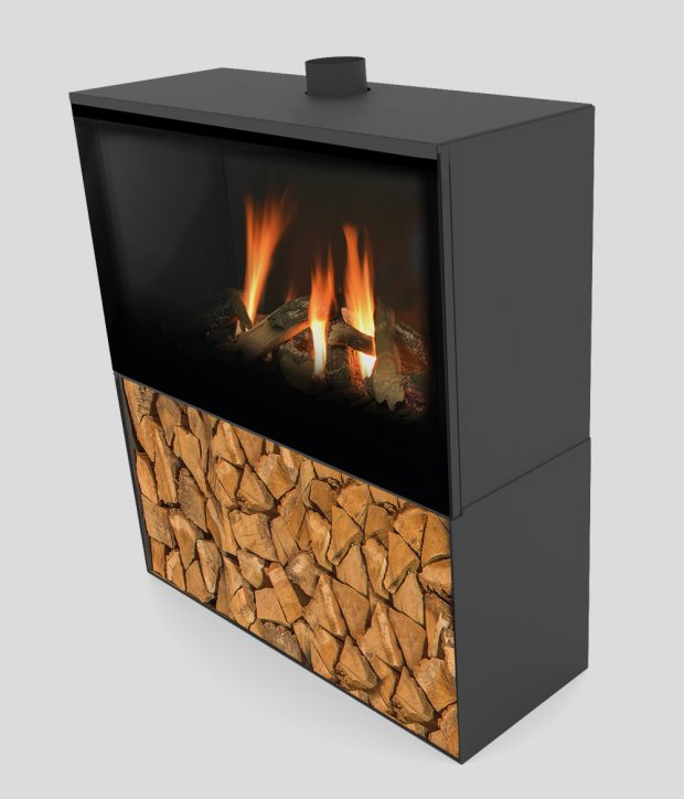 Versal Freestanding with woodbox 900