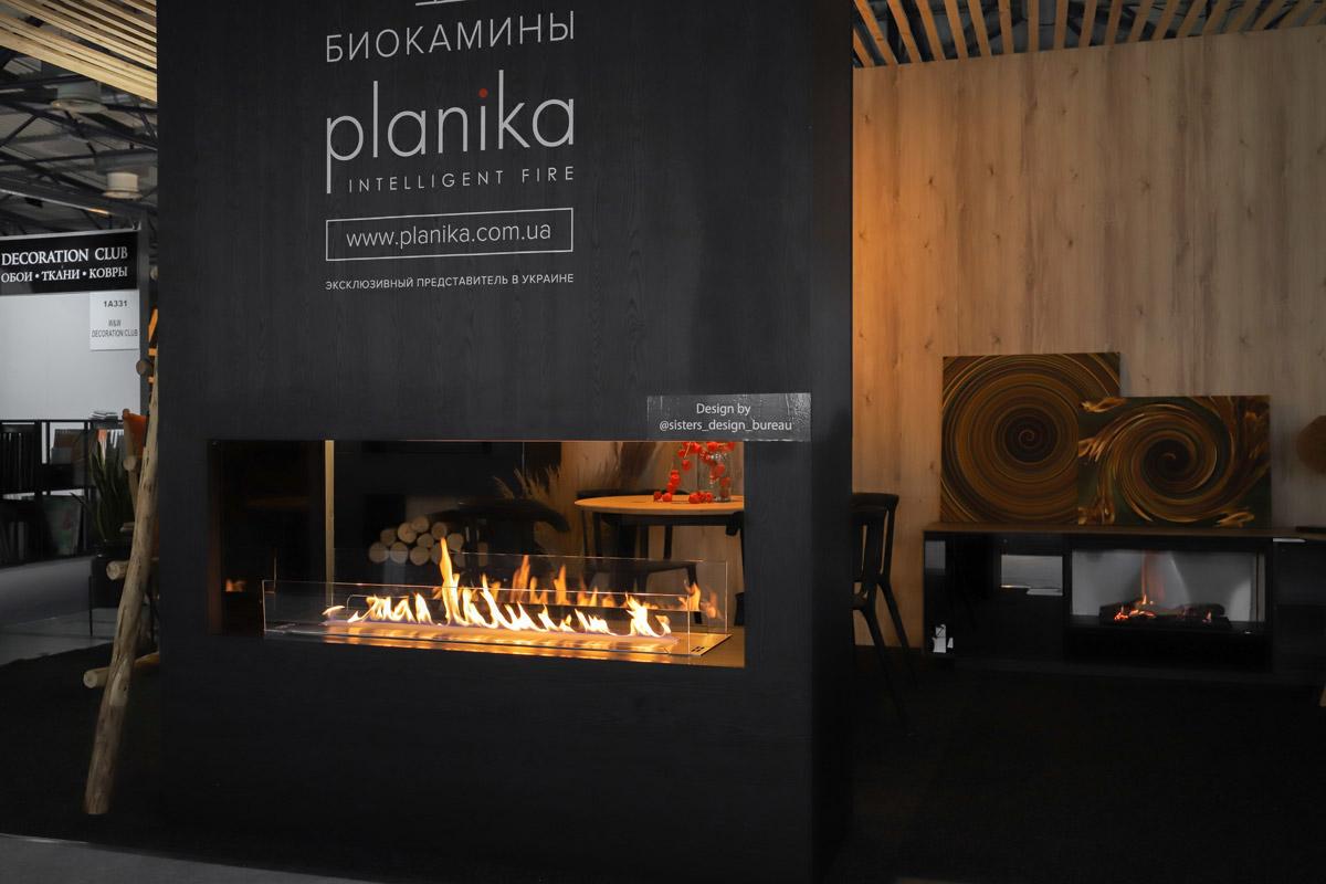биокамин Planika FLA 3 в сквозной нише