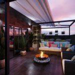 Релиз проекта с камином не только в гостиной, но и на террасе