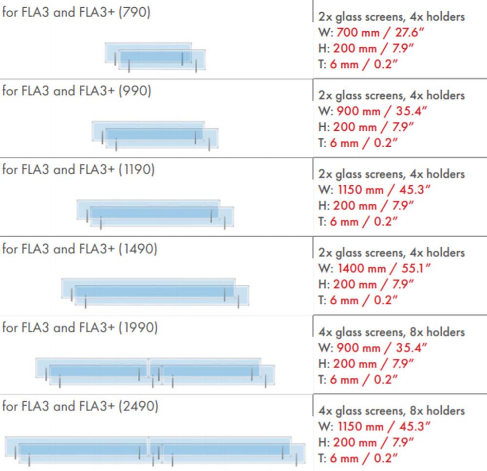 Стекло для биокамина Planika FLA3 / FLA3+