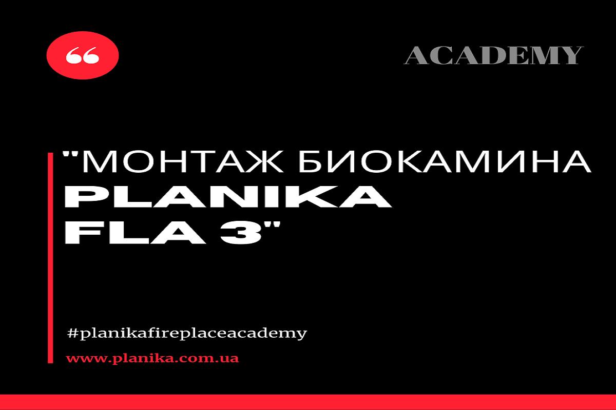 Монтаж биокамина Planika FLA 3